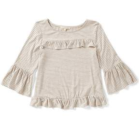 Copper Key Big Girls 7-16 Ruffled Striped Top