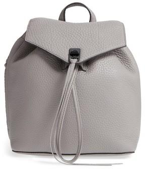 Rebecca Minkoff Medium Darren Leather Backpack - Grey