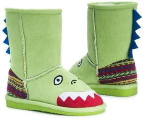 Muk Luks Green Rex Dinosaur Boot - Kids