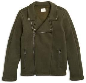 Armani Junior Boys' Terry Moto Jacket - Big Kid