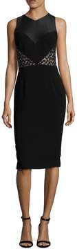 Theia Women's Embroidered Bodice Sheath Dress