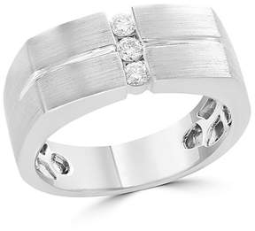 Bloomingdale's Diamond Men's Band in 14K White Gold, .20 ct. t.w. - 100% Exclusive
