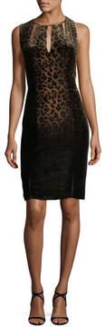 Elie Tahari Jemra Sleeveless Leopard-Print Dress