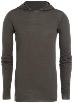 Rick Owens Virgin Wool Pullover with Hood
