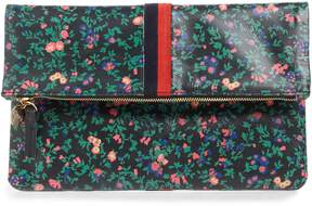 Clare Vivier Foldover Ditzy Floral Leather Clutch