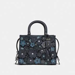 COACH COACH ROGUE 25 WITH TEA ROSE - MIDNIGHT NAVY/BLACK COPPER
