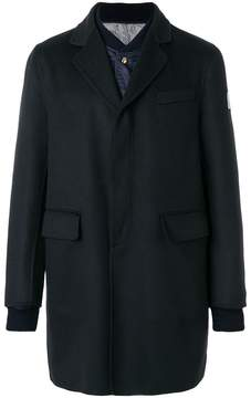 Moncler Gamme Bleu Chester coat with padded jacket insert