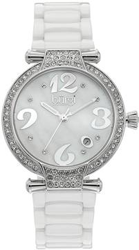 Burgi Women's Diamond & Crystal Ceramic Swiss Watch - BUR071WT