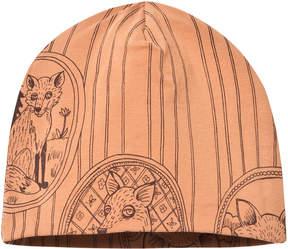 Mini Rodini Brown Fox Print Beanie Hat