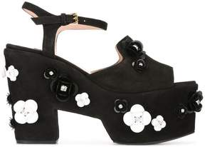Moschino embellished platform sandals