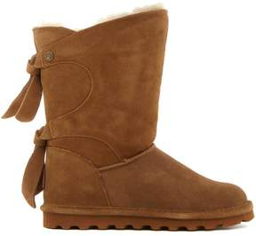 BearPaw Willow Suede Tie Detail Boot with NeverWet