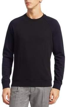 Saks Fifth Avenue MODERN Baseball Cotton Sweater
