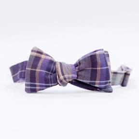 Blade + Blue Olive Purple Plaid Cotton Bow Tie
