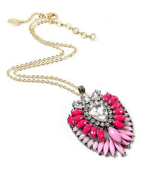 Amrita Singh Pink & Austrian Crystal Artistry Ombre Pendant Necklace