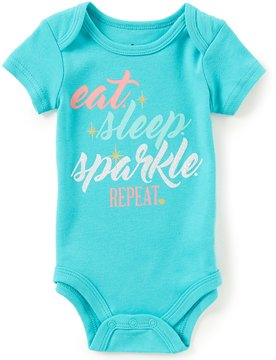 Baby Starters Baby Girls 3-12 Months Eat, Sleep, Sparkle Short-Sleeve Bodysuit