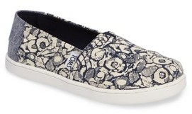 Toms Girl's Classic Floral Camo Slip-On