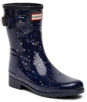Hunter Refined Constellation Print Waterproof Short Rain Boot