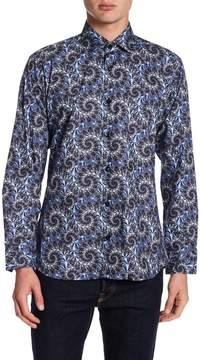 Jared Lang Swirl Pattern Trim Fit Woven Shirt