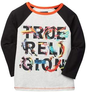 True Religion Painted Logo Graphic Tee (Toddler & Little Girls)