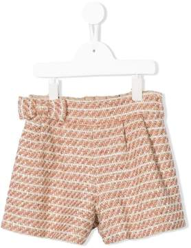 Familiar bow waist shorts