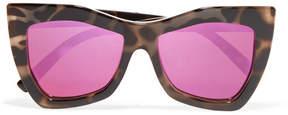 Le Specs Kick It Square-frame Tortoiseshell Acetate Mirrored Sunglasses