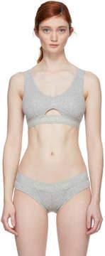 Calvin Klein Underwear Grey Cotton Bralette