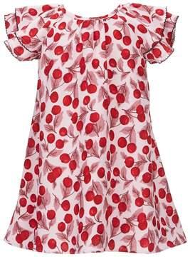 Kate Spade Little Girls 2-6 Cherry-Print Ruffle-Sleeve Dress