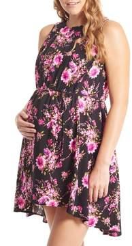 Everly Grey Women's Crystal Maternity/nursing High/low Dress