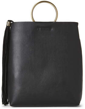 Street Level Black Suede Tassel Crossbody