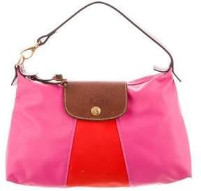 Longchamp Leather-Trimmed Bicolor Shoulder Bag