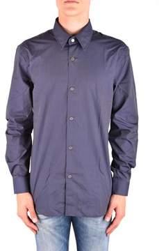 CNC Costume National Men's Mcbi074105o Blue Cotton Shirt.