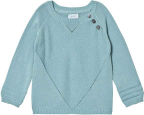 Mini A Ture Noa Noa Miniature Cameo Blue Heart Long Sleeved Pullover