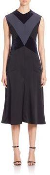 Aquilano Rimondi Sleeveless Geometrical Velvet Satin Dress
