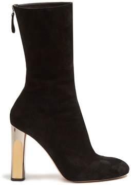 Alexander McQueen Block-heel suede ankle boots