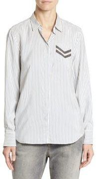 Brunello Cucinelli Silk Striped Blouse