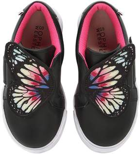 Sophia Webster Bibi Mini Wings Leather Sneakers