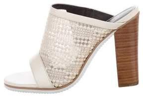 Tibi Mesh Slide Sandals
