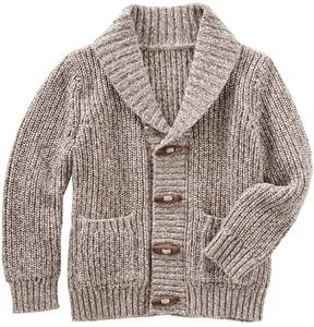Osh Kosh Boys 4-10 Toggle Button Knit Shawl Collar Cardigan Sweater
