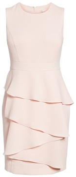 Eliza J Women's Ella Cascade Crepe Sheath Dress
