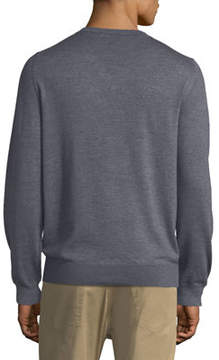 Luciano Barbera Wool-Blend V-Neck Sweater