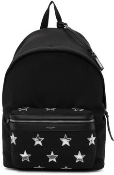 Saint Laurent Black California Stars City Backpack