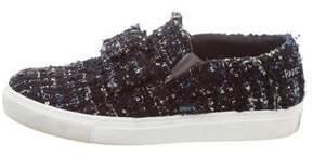 Karl Lagerfeld Tweed Low-Top Sneakers