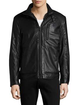 Karl Lagerfeld Men's Convertible Collar Jacket