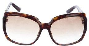 Saint Laurent Tortoiseshell Oversized Sunglasses