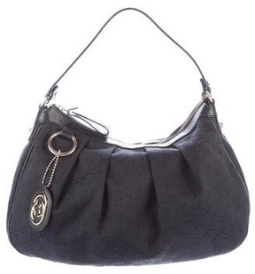 Gucci GG Canvas Sukey Hobo - BLACK - STYLE