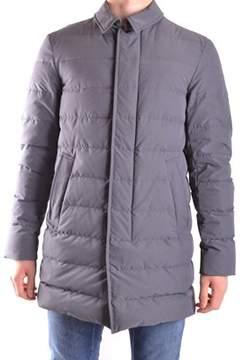 Herno Men's Grey Polyester Down Jacket.