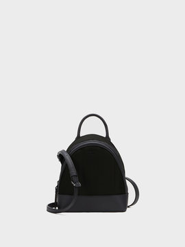 Mini Nylon Backpack With Leather Trim