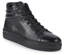John Galliano Leather High-Top Sneakers