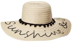 Betsey Johnson Sunshine Chill Floppy Hat Caps