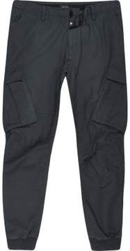 River Island Mens Big and Tall navy blue cargo tapered pants